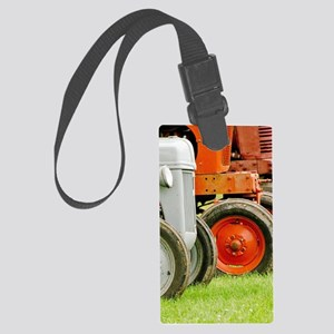 Old Farm Tractor Large Luggage Tag