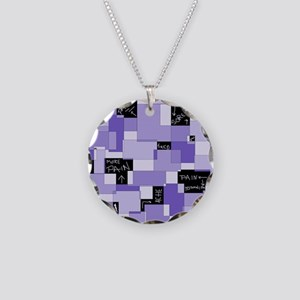 Purple Pain Modular Art Necklace