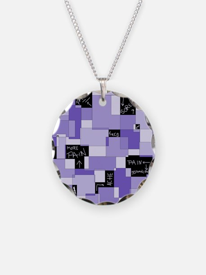 Purple Pain Modular Art Necklace