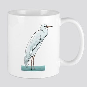 White Egret Mugs