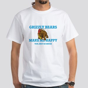 Grizzly Bears Make Me Happy T-Shirt