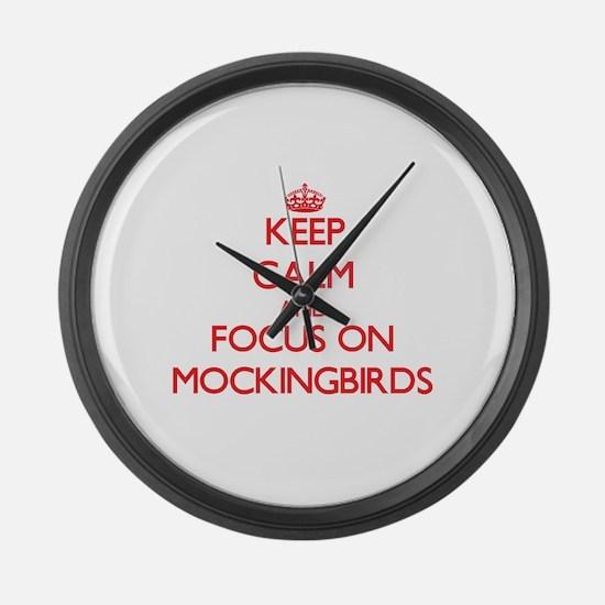 Cute Keep calm kill vampires Large Wall Clock