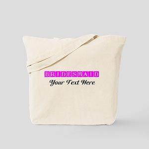 Pink Personalized Bridesmaid Tote Bag