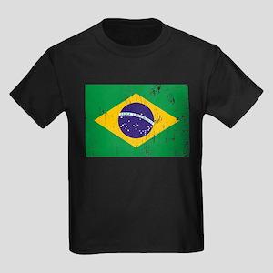 Vintage Brazil Kids Dark T-Shirt