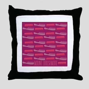 Mount Brushmore Throw Pillow