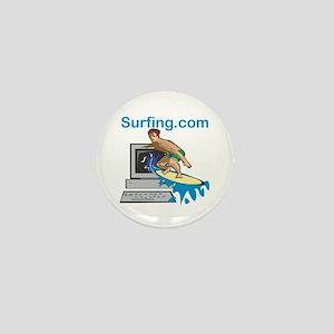 Surfing The Web Mini Button