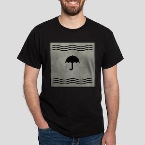 Black Umbrella Waves T-Shirt