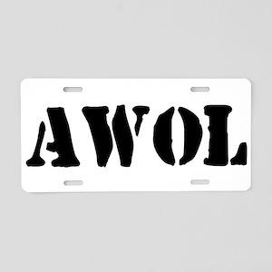 AWOL Aluminum License Plate