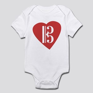 Alto/Tenor Clef Heart Infant Bodysuit