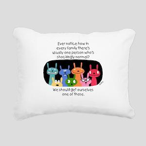 Shockingly Normal Rectangular Canvas Pillow