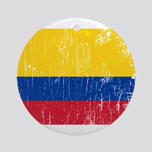 Vintage Colombia Ornament (Round)