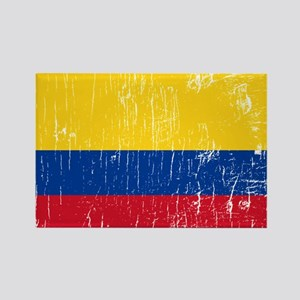 Vintage Colombia Rectangle Magnet