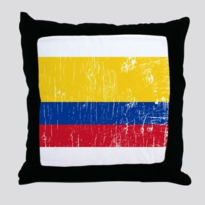 Vintage Colombia Throw Pillow