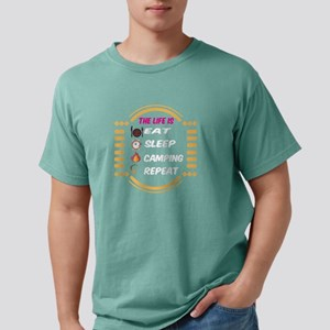 The Life Is Eat Sleep Camping Repeat T Shi T-Shirt
