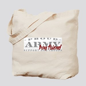 Proud Army Boyfriend (red) Tote Bag