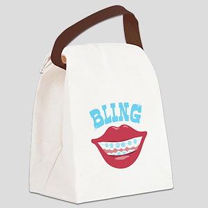 Braces Bling Canvas Lunch Bag