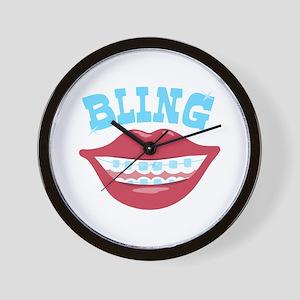 Braces Bling Wall Clock