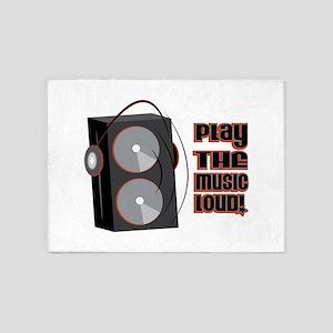 Play The Music Loud 5'x7'Area Rug