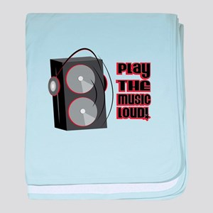 Play The Music Loud baby blanket