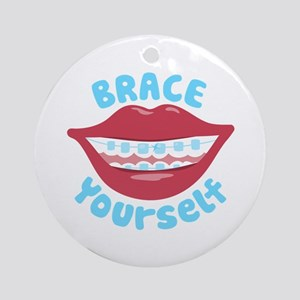 Brace Yourself Ornament (Round)