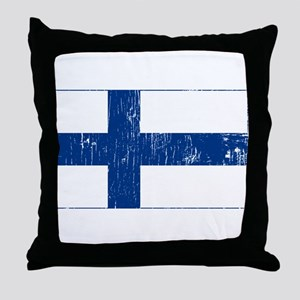 Vintage Finland Throw Pillow