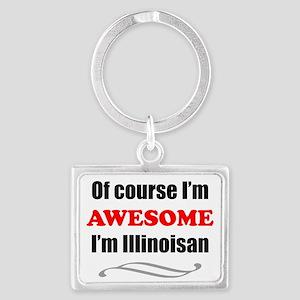 Illinois Is Awesome Landscape Keychain