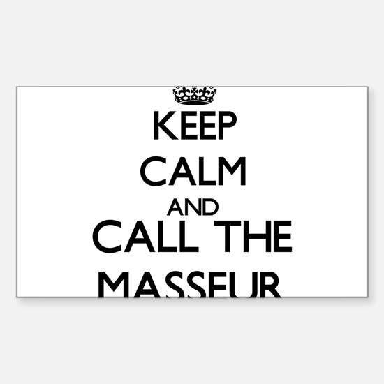 Keep calm and call the Masseur Decal
