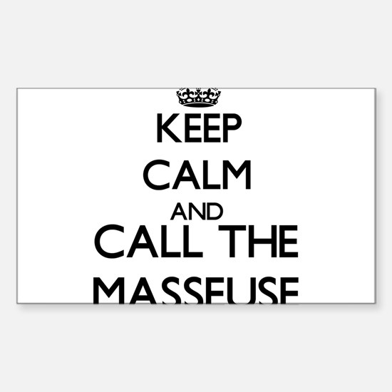 Keep calm and call the Masseuse Decal