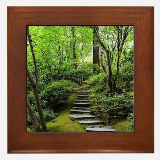 garden path Framed Tile