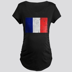 Vintage France Maternity Dark T-Shirt