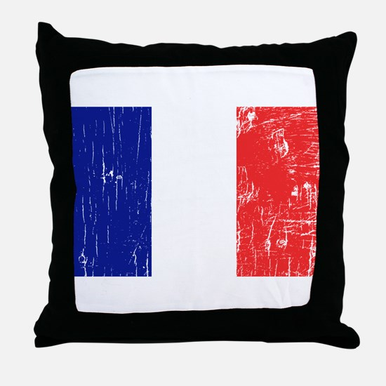 Vintage France Throw Pillow