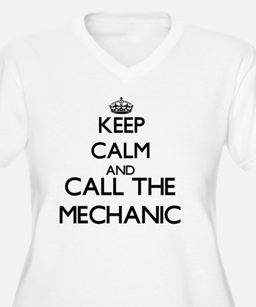 Keep calm and call the Mechanic Plus Size T-Shirt