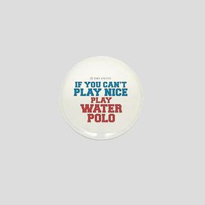 Water Polo Slogan Mini Button
