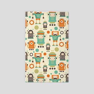 Cute Robot Lover 3'x5' Area Rug