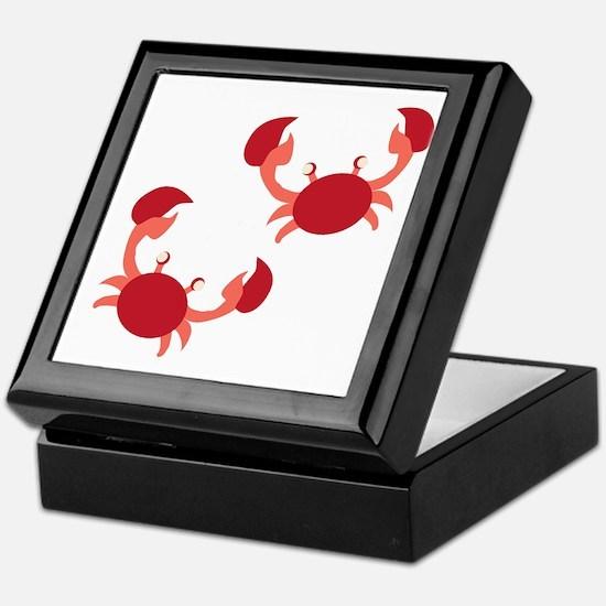 Two Crabs Keepsake Box