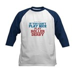 Roller Derby Slogan Kids Baseball Jersey