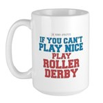 Roller Derby Slogan Large Mug