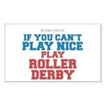 Roller Derby Slogan Rectangle Sticker