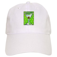 Polka Martini Baseball Cap