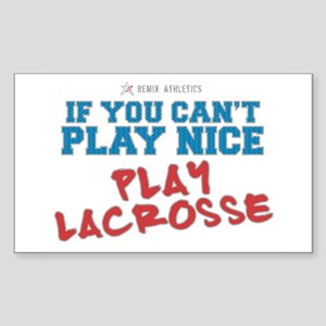 Remix Lacrosse Sports Slogan Rectangle Sticker