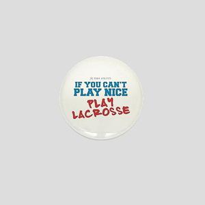 Remix Lacrosse Sports Slogan Mini Button