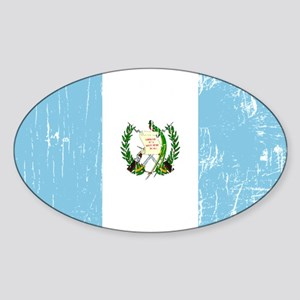Vintage Guatemala Oval Sticker