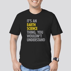 Its An Earth Science T Men's Fitted T-Shirt (dark)