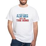 Remix MMA Boxing Wrestling Slogan White T-Shirt