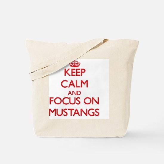 Funny Mustang pony Tote Bag