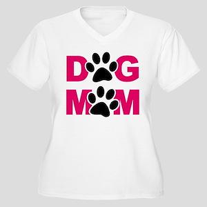 Dog Mom Women's Plus Size V-Neck T-Shirt