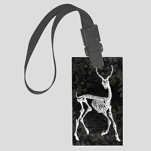Prancing Deer Skeleton Luggage Tag