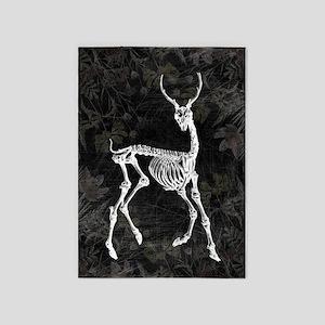 Prancing Deer Skeleton 5'x7'Area Rug