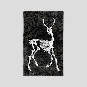 Prancing Deer Skeleton 3'x5' Area Rug