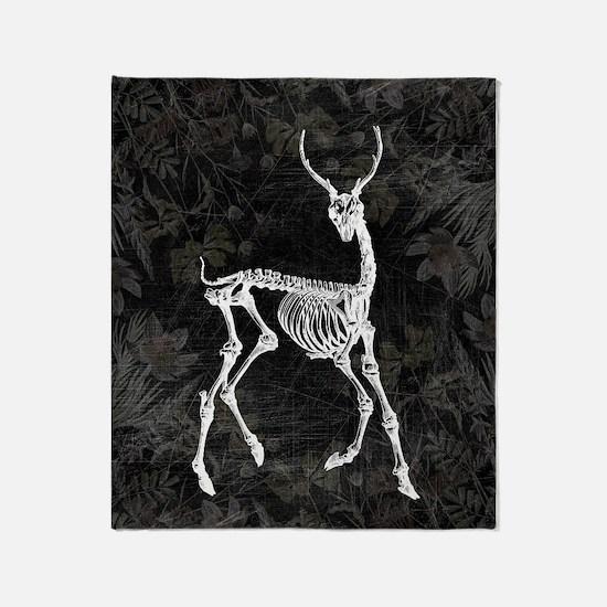 Prancing Deer Skeleton Throw Blanket